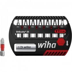 Wiha SB 7945TY-202 BitBuddy 29 42098 Kit inserti di avvitamento 8 parti Croce Pozidriv