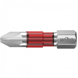 Wiha 7012TY TY-Bit PZ2 x 29 mm Inserto di avvitamento Croce PZ 2 Acciaio vanadio molibdeno temperato 5 pz.