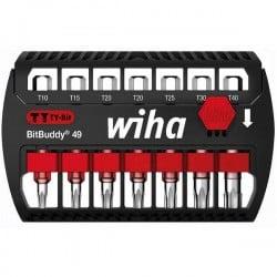Wiha SB 7946TY-505 BitBuddy 49 42115 Kit inserti di avvitamento 7 parti TORX Plus