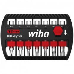 Wiha SB 7946TY-905 BitBuddy 49 42118 Kit inserti di avvitamento 7 parti TORX Plus, Croce Pozidriv