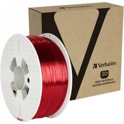 Verbatim 55062 Filamento per stampante 3D PETG 2.85 mm 1 kg Rosso (trasparente)