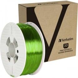 Verbatim 55065 Filamento per stampante 3D PETG 2.85 mm 1 kg Verde (trasparente)