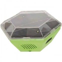 Gardigo Solar 360ø Disturbatore per uccelli Multifrequenza, Luce LED Campo di azione 150 mý 1 pz.