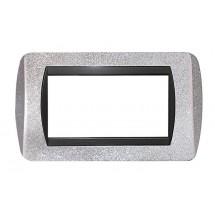 placche compatibili b ticino biticino compatibile con serie living international 3 4 7 posti argento glitter