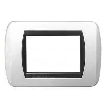 Placca Bianco Lucido Compatibile Bticino International 3, 4, 7 Moduli