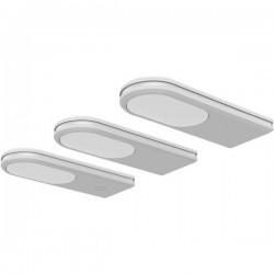 Lampada sottopensile Kit da 3 LED (monocolore) LED a montaggio fisso 14 W Bianco caldo, Bianco freddo, Bianco luce del