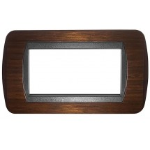 Placche in legno compatibili bticino living international 3 4 o 7 moduli