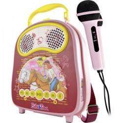 X4 Tech Bobby Joey Casey Music Bibi & Tina Karaoke Bluetooth, USB incl. Microfono Rosa