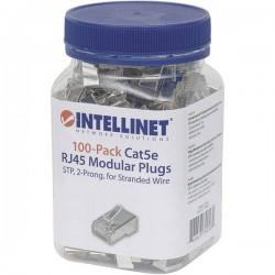 Intellinet confezione da 100 Cat5e connettore modulare RJ45 cavo STP 2 punti contatto per cavo spina bicchiere 100 pro