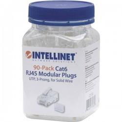 Intellinet 90pz. Cat6 connettore modulare RJ45 UTP 3 punti contatto cavo per cavo pieno 90 spina nel bicchiere Contatto