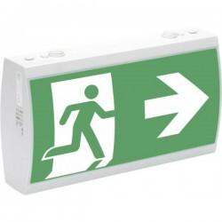 CEAG 40071349397 Indicazione via di fuga illuminata a LED Montaggio a soffitto, Montaggio a parete verso sinistra, verso