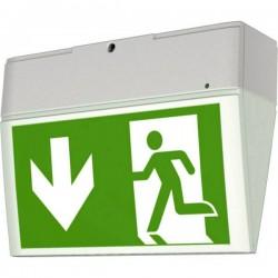 CEAG 40071354900 Indicazione via di fuga illuminata a LED Montaggio a soffitto, Montaggio a parete verso sinistra, verso