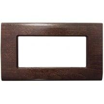 Placca in legno compatibili vimar idea 3 4 6 moduli o posti