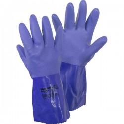 Guanto di protezione per prodotti chimici Tessuto di cotone, PVC Taglia: 10, XL EN 388 , EN 374-2 , EN 374-3, EN 455 CAT