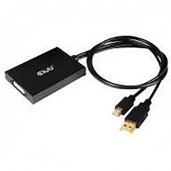 club3D DisplayPort Cavo di collegamento [1x Spina Mini DisplayPort, USB - 1x Presa DVI 24+1 poli] Nero