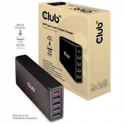 club3D CAC-1903EU Stazione di carica USB Presa di corrente presa USB-C, Presa A USB 2.0