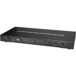 Maxtrack CSM 3 L Switch Matrix HDMI Contenitore in alluminio, Con telecomando 3840 x 2160 Pixel Nero