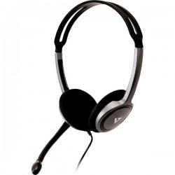 Cuffia Headset per PC Jack 3,5 mm Stereo V7 Videoseven Boom MIC Cuffia On Ear