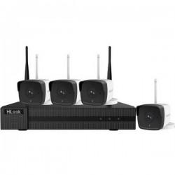 Kit videosorveglianza IP WLAN 4 canali con 4 camere 1920 x 1080 Pixel HiLook HIK-4142B-MH/W hl414w