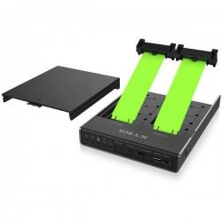 ICY BOX IB-2812CL-U3 Contenitore hard disk M.2 M.2 2230, M.2 2242, M.2 2260, M.2 2280 USB-C USB 3.1