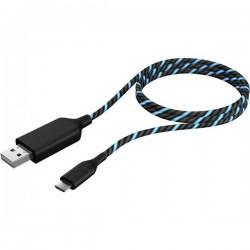 ICY BOX USB 2.0 Cavo di collegamento [1x Spina A USB 2.0 - 1x Spina Micro B USB 2.0] 1.00 m Nero, Blu