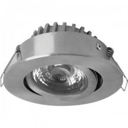 Lampada a LED da incasso per bagno 6.5 W Bianco caldo Megaman MM76731 Rico Acciaio inox (spazzolato)