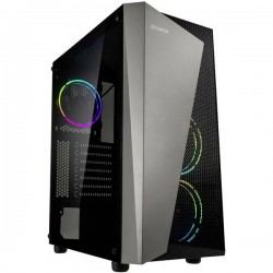 Zalman S4 Plus Midi-Tower PC Case da gioco Nero 3 ventole LED pre-montate, finestra laterale, filtro per la polvere