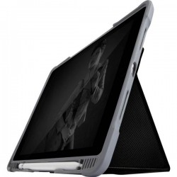 STM Goods Custodia per iPad Custodia a libro Adatto per modelli Apple: iPad 10.2 (2019) Nero (trasparente)