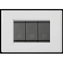 Placca Metallo Bianco Compatibile Vimar Idea 3,4,6 Posti
