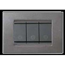 Placca in Metallo Grigio Grafite 3,4,6 Posti Compatibile Vimar Idea