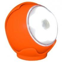 Lampada Led Torcia Portatile Arteleta, colore arancio bubble, con sensore crepuscolare incluso.