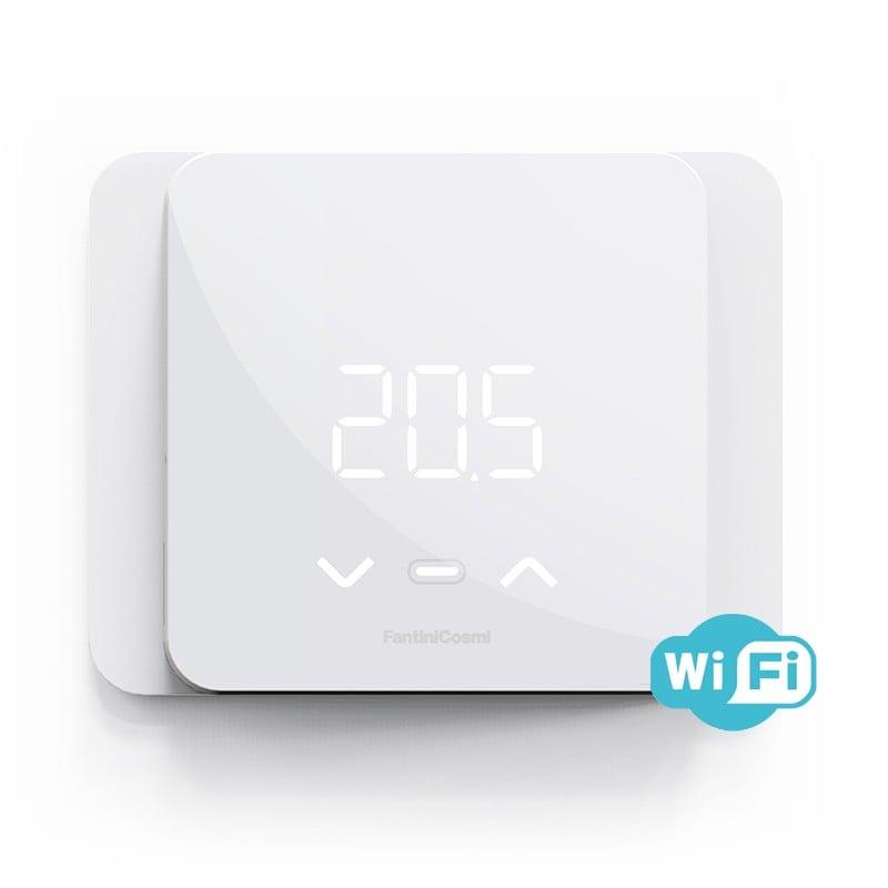 Cronotermostato Intelligente Incasso/Parete Smart WiFi Programmi da App Estate/Inverno Fantini C800WIFIR Batterie