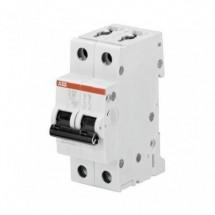 Interruttore Magnetotermico 6A Abb S202L C 6 4,5KA S598446 Automatico 2 Poli
