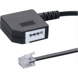 Adattatore Western, Fax Basetech [1x Spina RJ11 6p4c - 1x Presa TAE-F] 20.00 cm Nero