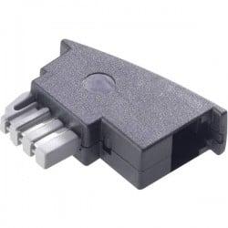 Adattatore Telefono analogico Basetech [1x Spina TAE-N - 1x Presa RJ11 6p4c] Nero