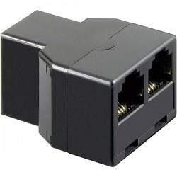 Adattatore Western Basetech [1x Presa RJ11 6p4c - 2x Presa RJ11 6p4c] Nero