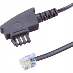 Cavo Fax Basetech [1x Spina TAE-N - 1x Spina RJ11 6p4c] 3.00 m Nero