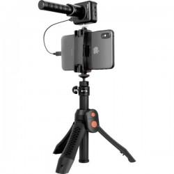 IK Multimedia iRig Mic Video Bundle verticale Microfono portatile Tipo di trasmissione:Cablato incl. stativo, incl.