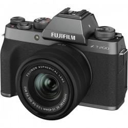 Fujifilm X-T200 + XC15 Fotocamera digitale 24.2 MPixel Dark silver Video 4K, Bluetooth, Video Full HD, Flash, WiFi