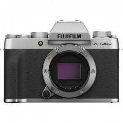 Fujifilm X-T200 + XC15 Fotocamera digitale 24.2 MPixel Argento Video 4K, Bluetooth, Video Full HD, Flash, WiFi