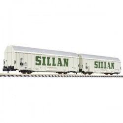 N vagone merci 2 pz SILLAN di DB Liliput L260158 L260158