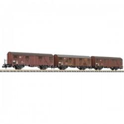 N Kit da 3 vagoni merci coperti Gbs 253 della DB Liliput L260155 L260155