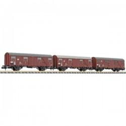 N Kit da 3 vagoni merci coperti Gbs 245 della DB Liliput L260138 L260138
