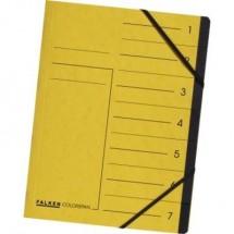 Falken Cartellina con divisori Giallo DIN A4 Cartone colorspan Numero scomparti: 7 11288073