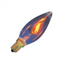 Lampadina COUP DE VENT con effetto oscillante che dà la sensazione della fiamma di una candela di cera