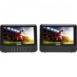 Denver MTW-757 Lettore DVD per poggiatesta con 2 monitor Diagonale schermo 17.78 cm (7 pollici) 110111310110