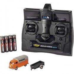 Carson Modellsport 500504135 VW Bus T1 Dunlop mit Anh舅ger 1:87 Automodello Elettrica Auto stradale Trazione posteriore 50050413