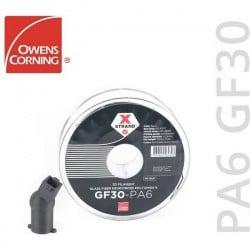 Owens Corning FIXD-PA17-BK0 Xstrand PA6 GF30 Filamento per stampante 3D PA (poliammide) resistente ai raggi uv 1.75 mm FIXD-PA1