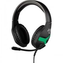 Konix NEMESIS Cuffia Headset per Gaming Stereo, Filo Cuffia On Ear Nero/Verde 27971