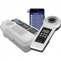 Water ID PoolLab 1.0 Photometer Fotometro Cloro, Alcalinità, pH, Ossigeno attivo, Acido cianurico, Bromo, Clordioxide, POL01